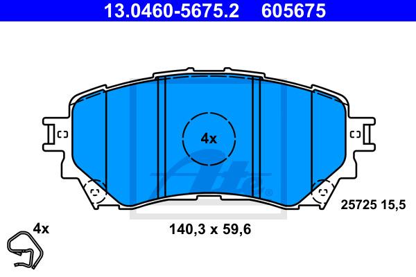 Jarrupalasarja, levyjarru ATE 13.0460-5675.2