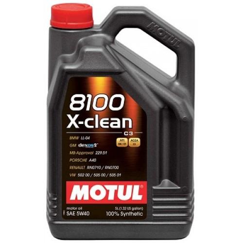 Moottoriöljy MOTUL 8100 X-CLEAN 5W40 5L