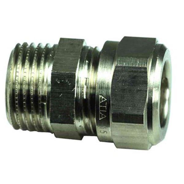 Gelia 3006123082 Klemringkobling rett, kobber-utv. gjenge 12 x G10, messing