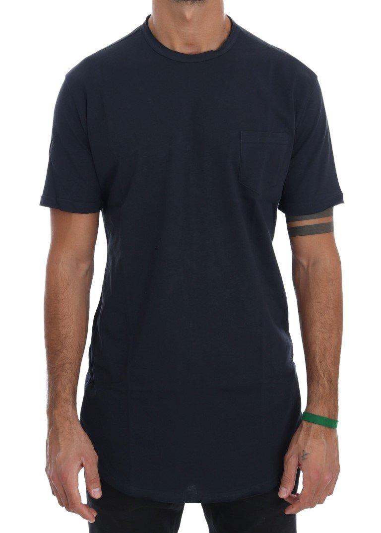 Daniele Alessandrini Men's Cotton Crewneck T-Shirt Blue TSH1323 - S
