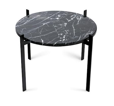 Single deck sofabord – Black/black