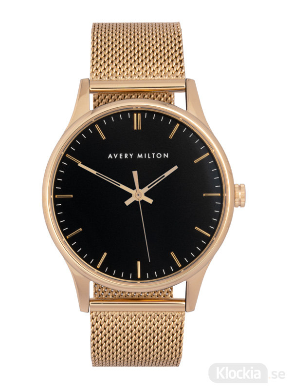 Avery Milton Como Steel Gold/Black 119240720 Unisexklocka
