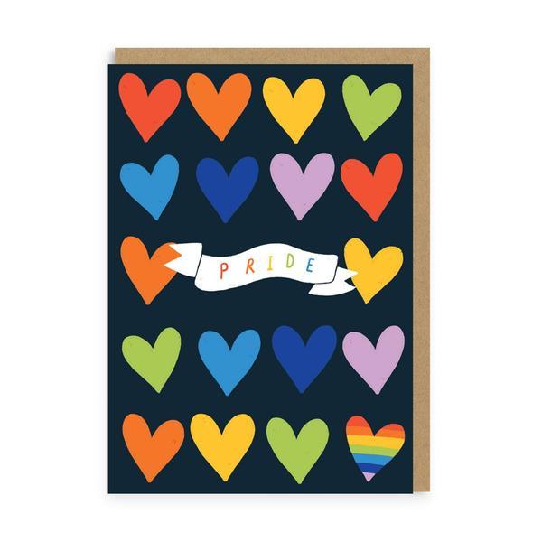 Pride Hearts Greeting Card