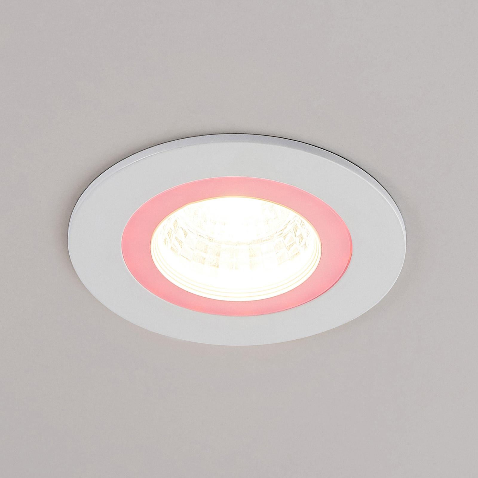 Lindby Noor LED-uppokohdevalaisin RGBW, valkoinen