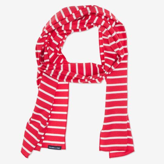 Skjerf stripet rød