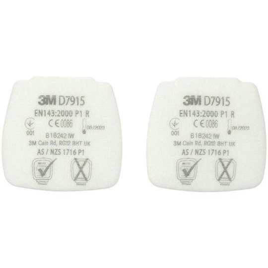 3M Secure Click D7915 Hiukkassuodatin 800-sarjaan, 4 kpl:n pakkaus P1 R