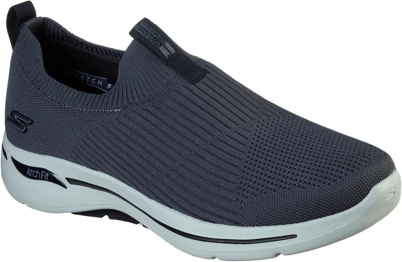 Skechers Men's Go Walk Arch Fit Slip On Trainer Various Colours 32203 - Charcoal/Black 6
