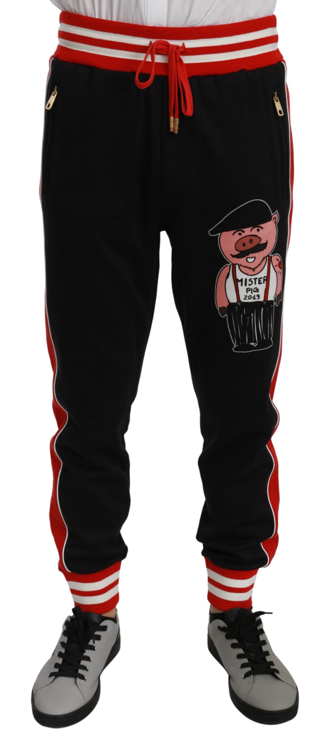Dolce & Gabbana Men's Mister Pig Trouser Black PAN70955 - IT44 | XS