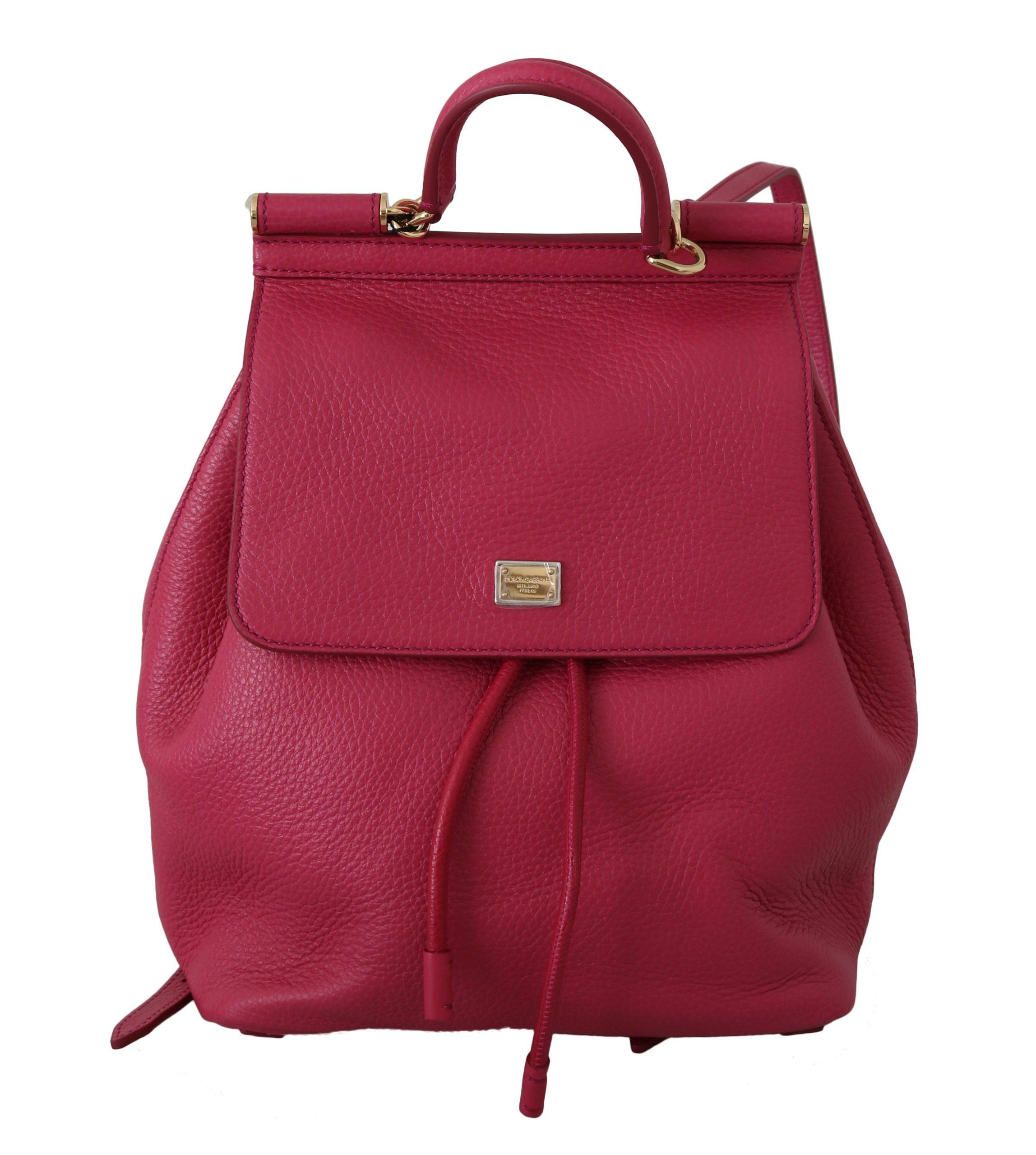 Dolce & Gabbana Women's Leather SICILY Backpack Pink VA8832