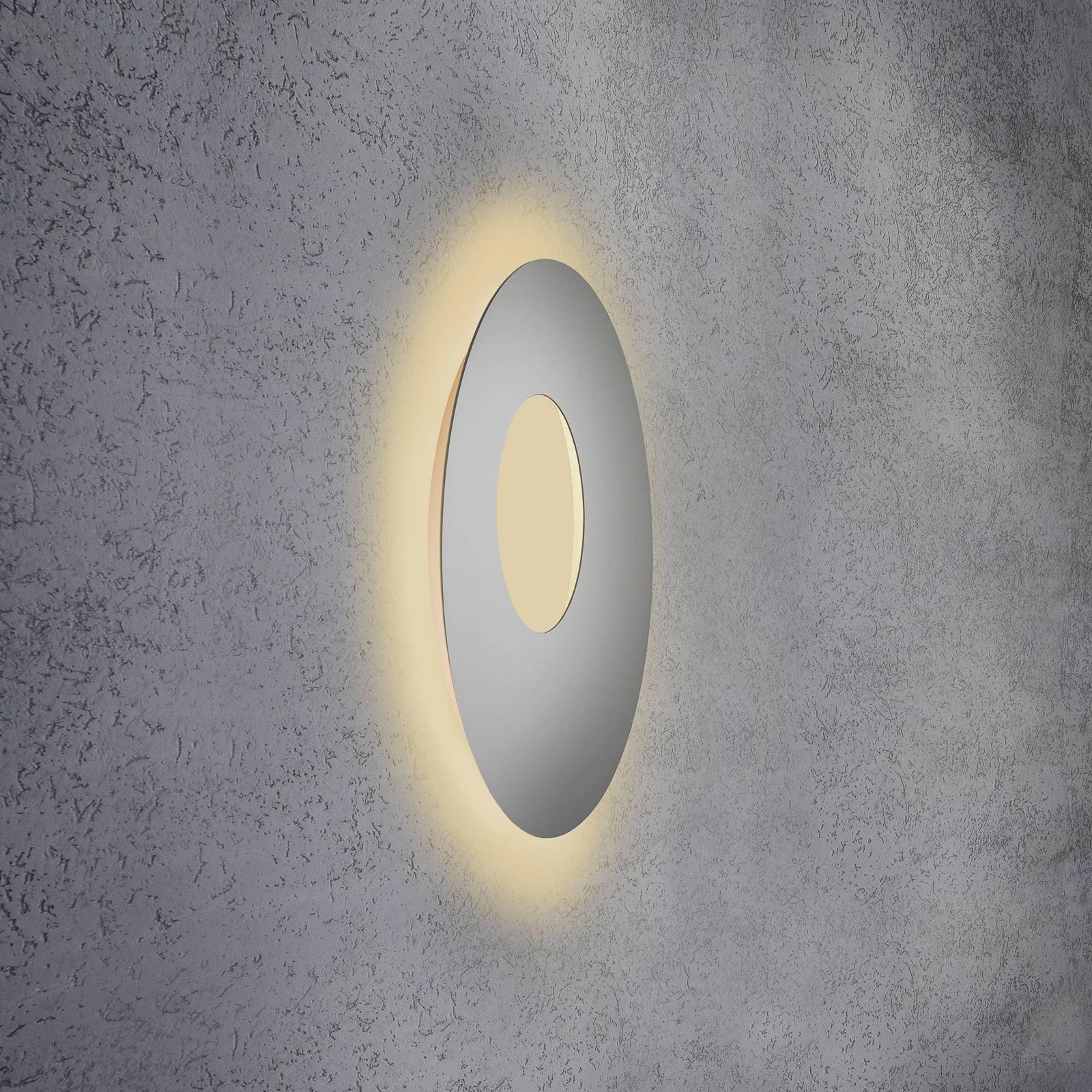 Escale Blade Open LED-vegglampe, sølv, Ø 59 cm