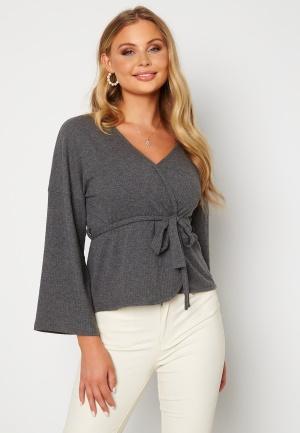 Happy Holly Scarlet kimono jacket Dark grey melange 36/38