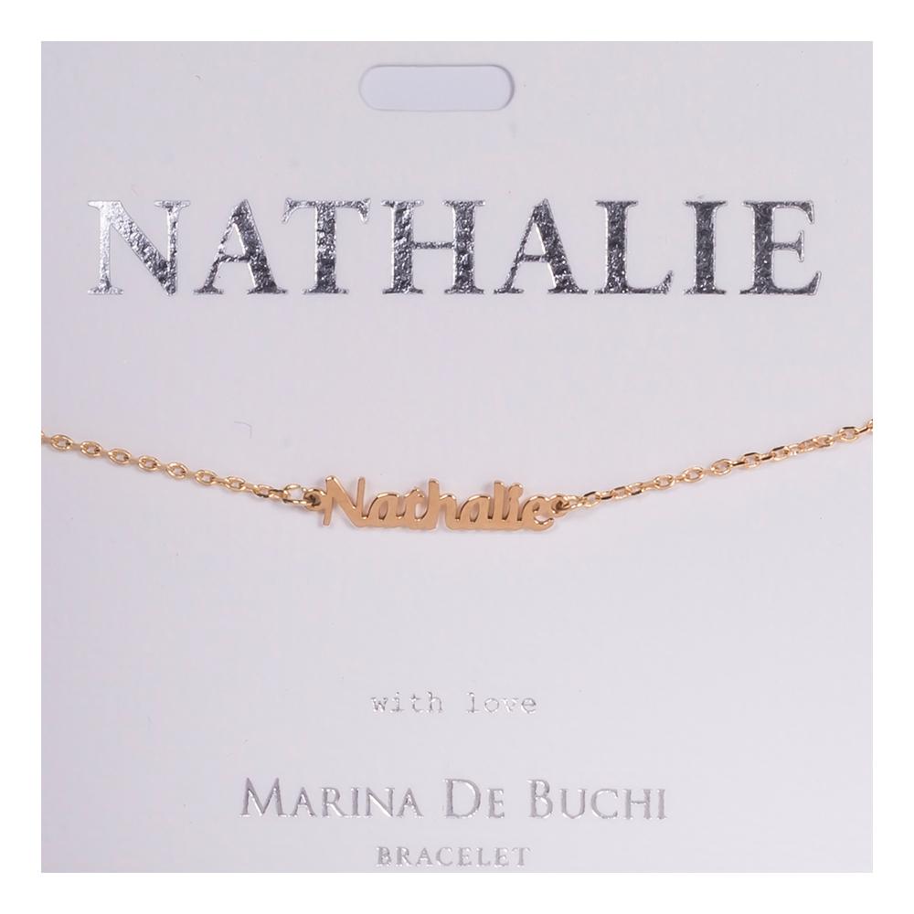 Namnarmband Guld - Nathalie