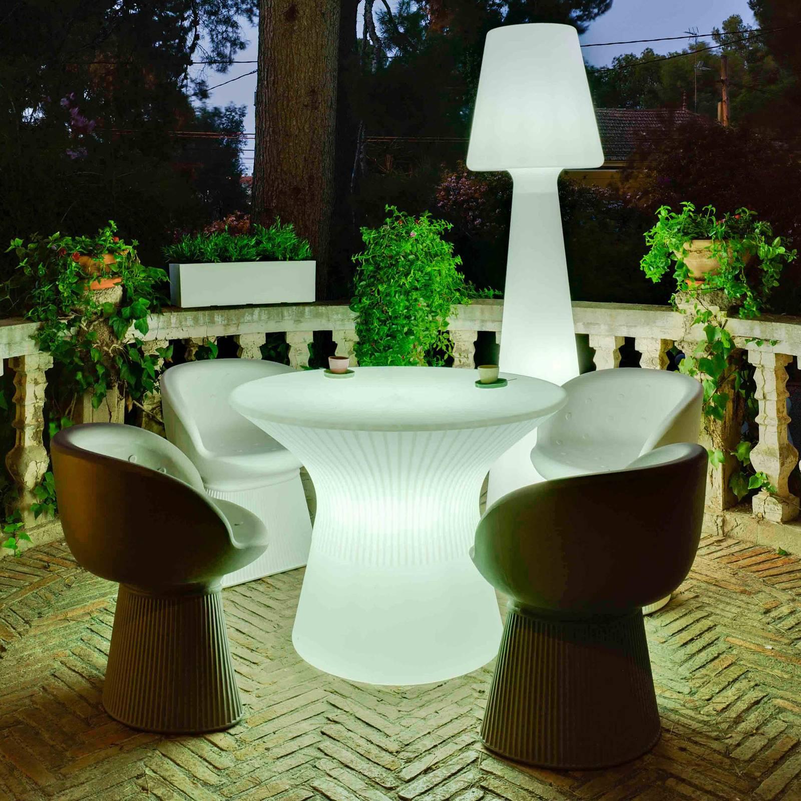 Newgarden Capri -LED-pöytä, korkeus 73 cm