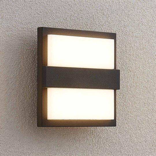 Lucande Gylfi LED-vegglampe, kvadrat
