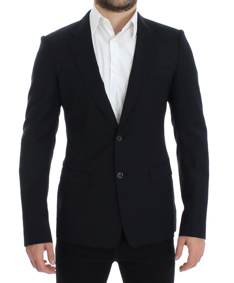 Dolce & Gabbana Men's blue Wool slim fit Blazer Blue SIG12312 - IT48 | M