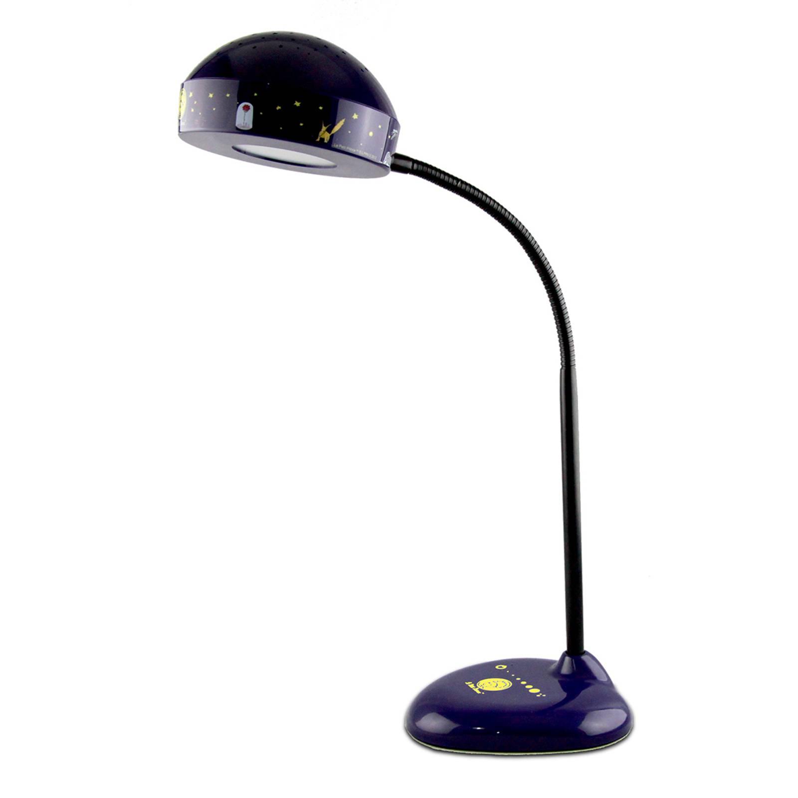 LED-työpöytälamppu Pikku prinssi yövalolla