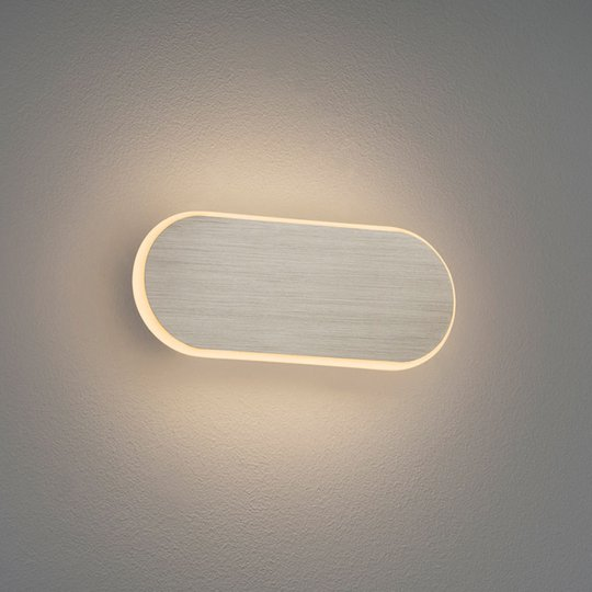 LED-vegglampe Carlo, Switchdim, 20 cm, matt nikkel