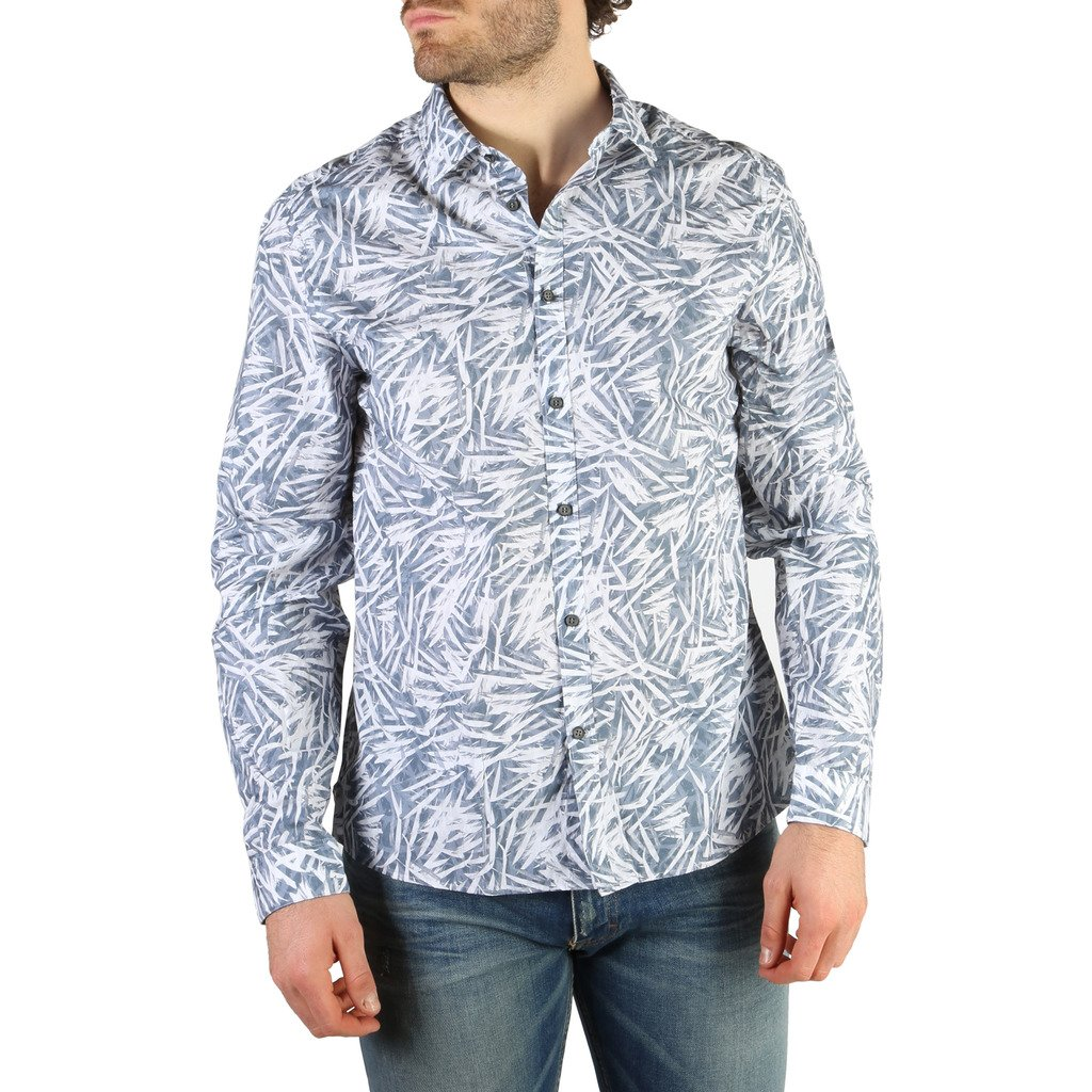 Calvin Klein Men's Shirt Blue 326907 - blue L