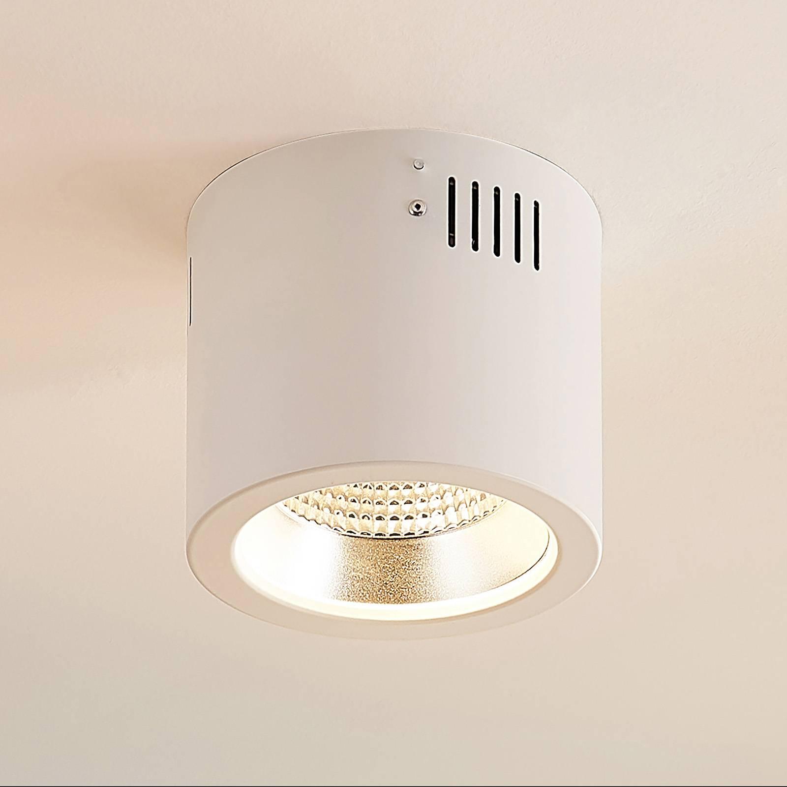 Arcchio Liddy -LED-alasvalo, valkoinen, Ø 14,8 cm