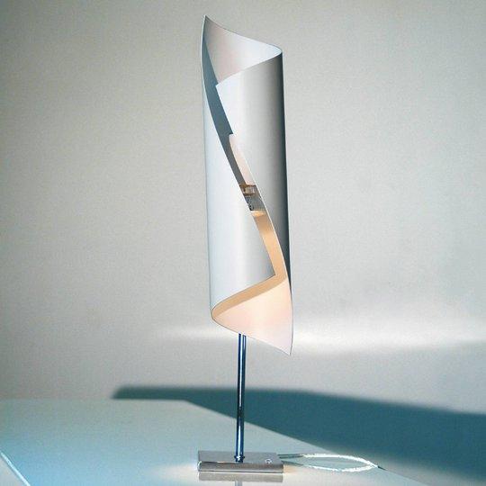 Hué-design-pöytävalaisin valkoisena, 50 cm korkea