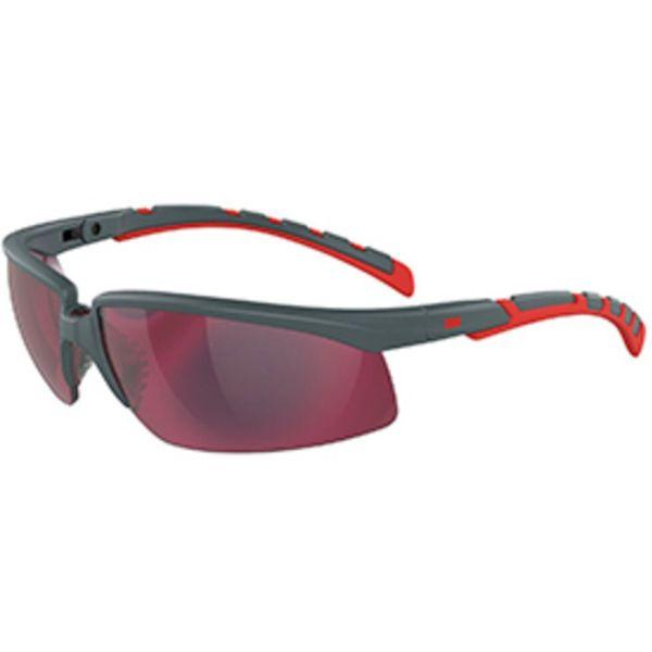 3M Solus 2000 Suojalasit Harmaa/punainen kehys, punainen peililinssi