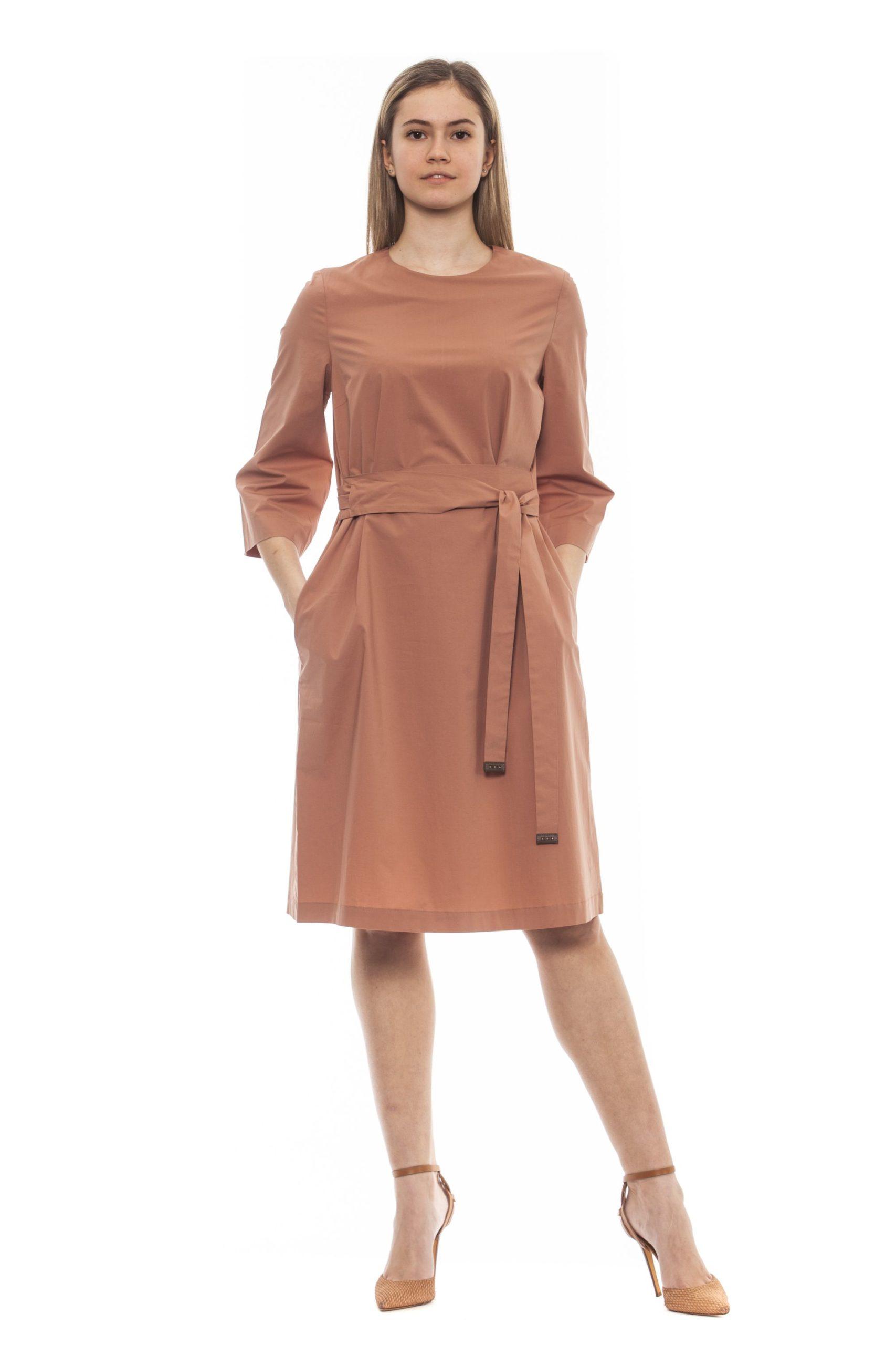 Peserico Women's Marrone Dress Brown PE1383194 - IT42   S