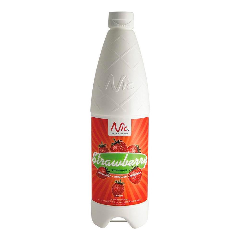Nic Topping Jordgubb - 900 ml
