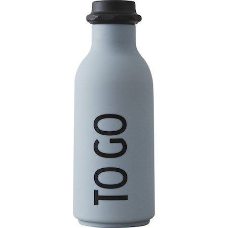 Design Letters Vannflaske «To Go» Grå