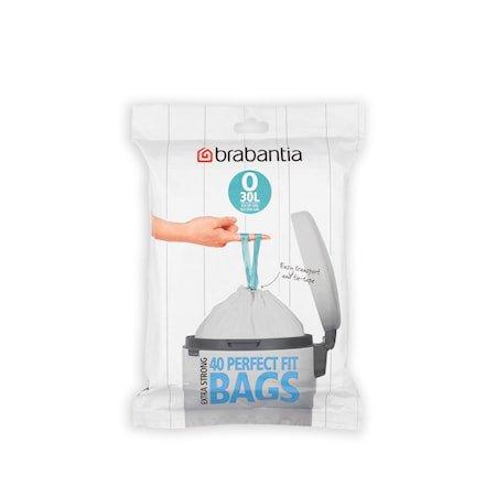 Avfallsposer O Pack med 40 poser Hvit 30 L