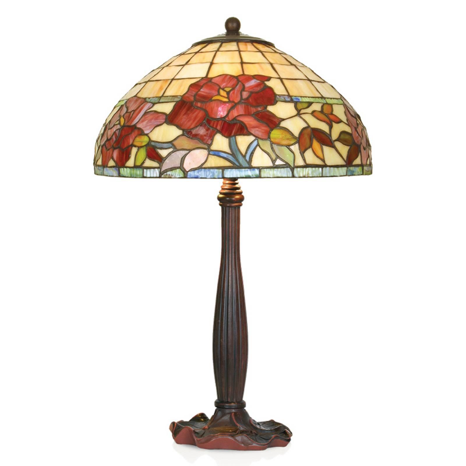 Håndlaget Esmee bordlampe i Tiffany-stil