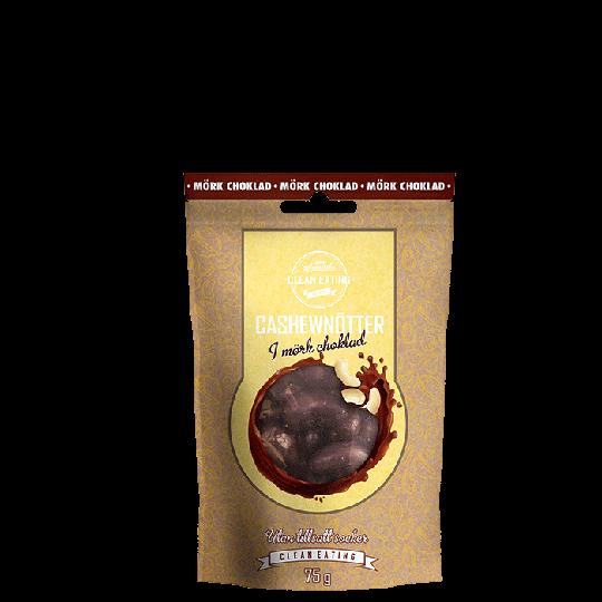 Cashewnötter i mörkchoklad, 75 g