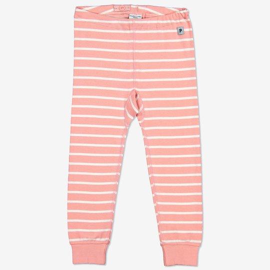 Stripet bukse baby rosa