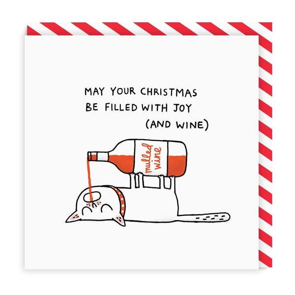 Mulled Wine Square Christmas Card
