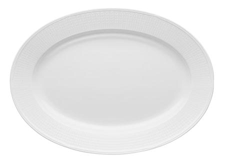Swedish Grace fat oval 40x29 cm snö