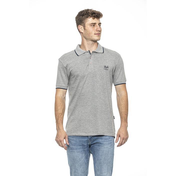 19v69 Italia Men's Polo Shirt Grey 185492 - grey M
