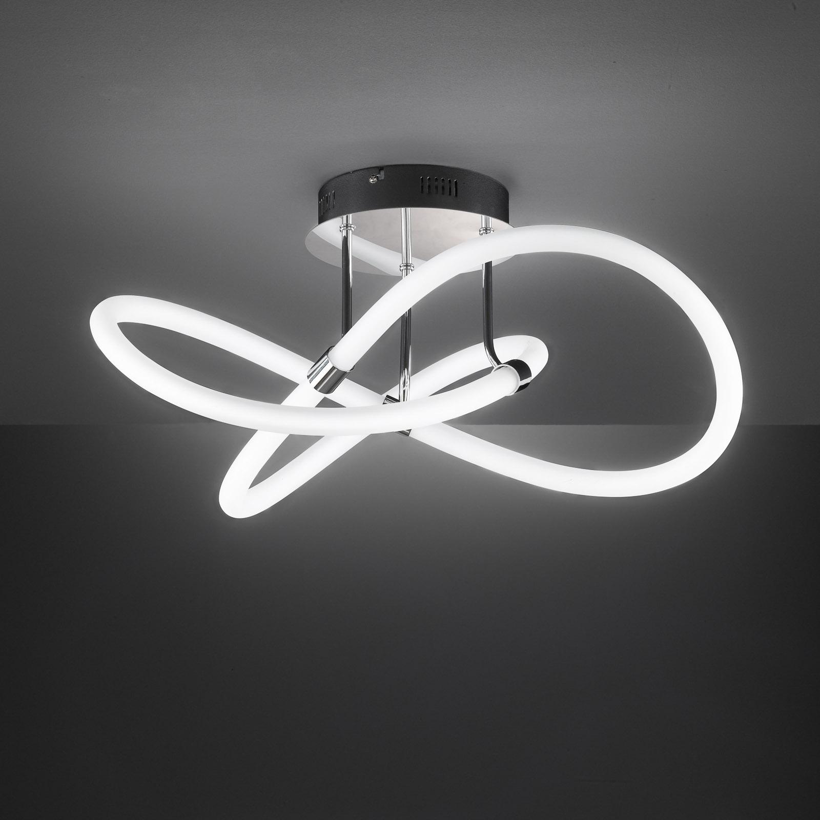 LED-kattovalaisin Mira kaukosäätimellä, Ø 57,5 cm