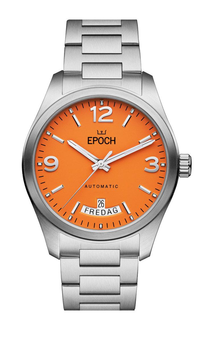 Herrklocka EPOCH Automatic Calendar Orange Limited EP3510
