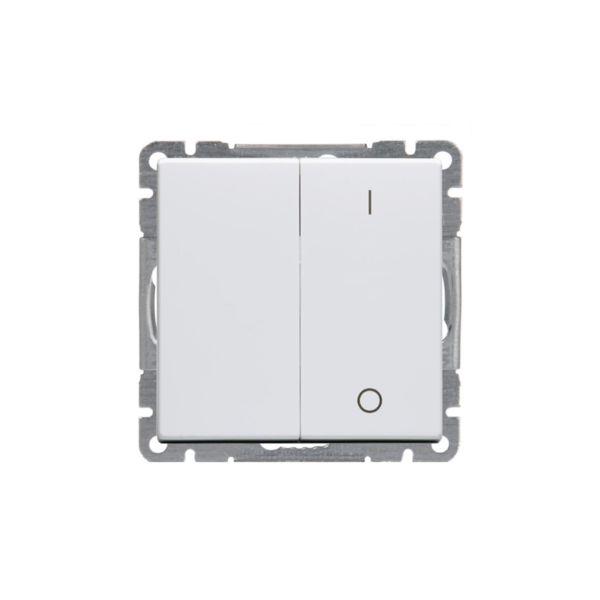 ABB Impressivo Kytkin 2+1-napainen Valkoinen