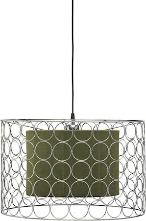 Ring Taklampe 50 cm Krom/Grønn