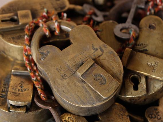 Medium Old Brass Padlock Medium