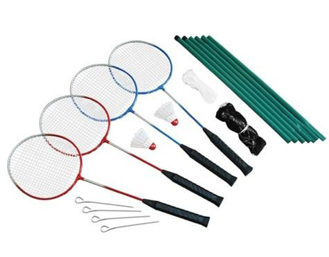 Spring Summer - Badminton set 4 players incl. net (302242)