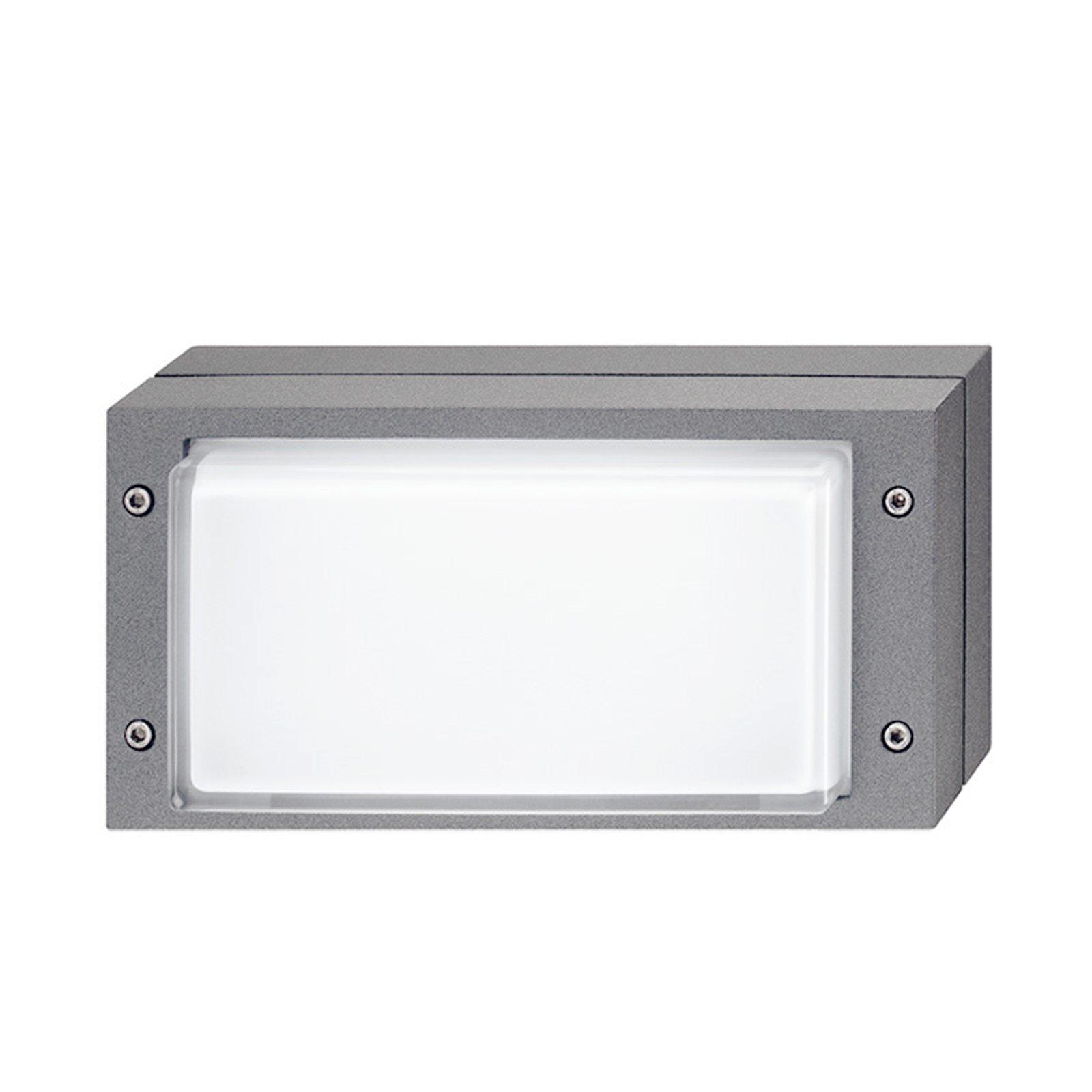 Grå utendørs vegglampe Bliz med LED