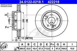 Jarrulevy, Taka-akseli, MERCEDES-BENZ 124 Sedan [W124], E-KLASS [W124, W210], SL [R129], 129 423 03 12, A 129 423 03 12
