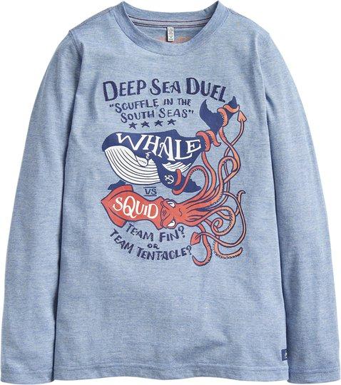 Tom Joule Jack Applique Langermet T-Skjorte, Blue Deep Sea 4 År