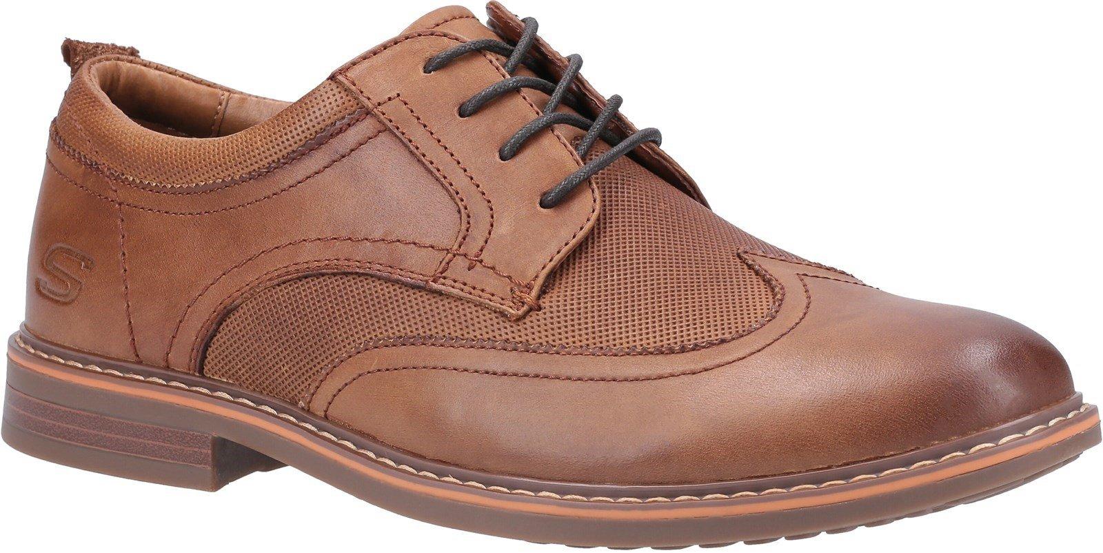 Skechers Men's Bregman Modeso Lace Up Shoe Various Colours 30747 - Cognac 7