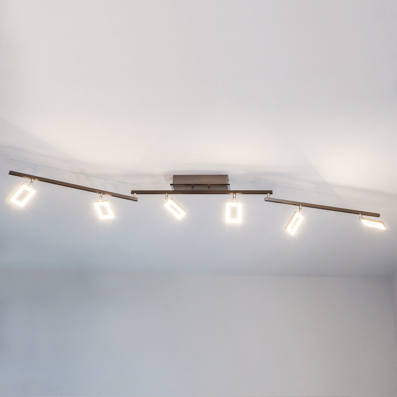 Toppmoderne LED-taklampe Inigo, seks lys
