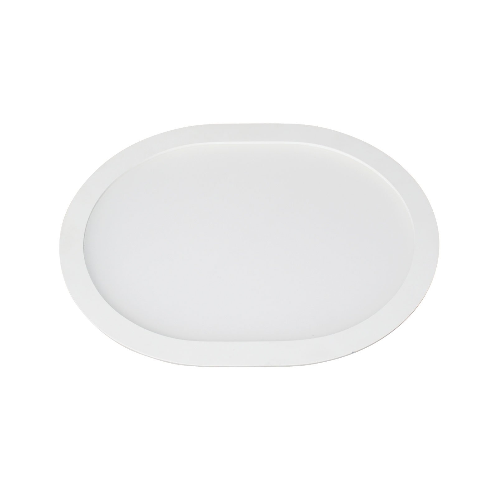 LED-innfellingspanel Ovale 4 500 K, 18 cm x 15 cm