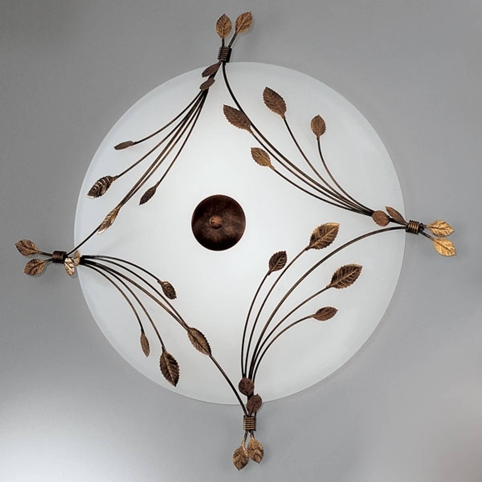 Foglie taklampe på 67 cm med tre lys