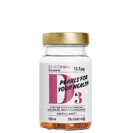 D3-vitamin 12,5µg Tiny Pearls, 120 kapslar
