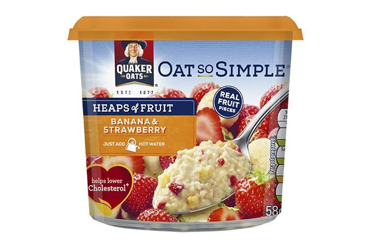 Quaker Oats So Simple Heaps of Fruit Banana & Strawberry Pot 58g